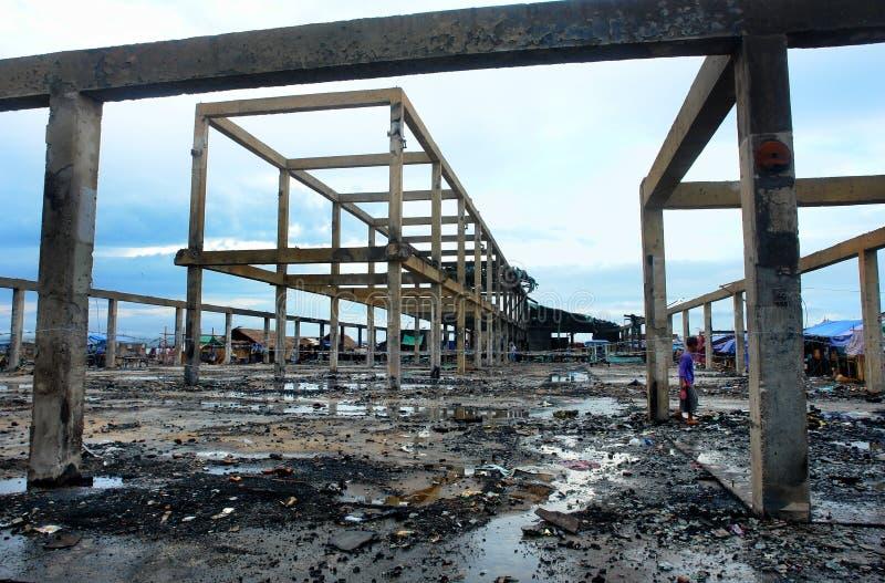 亚洲城市灾害 图库摄影