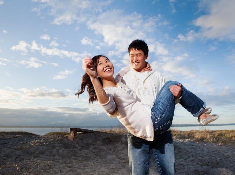 亚洲夫妇 库存照片