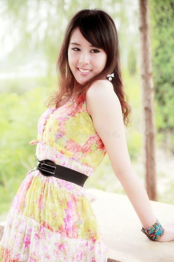 亚洲女孩夏天 免版税库存图片