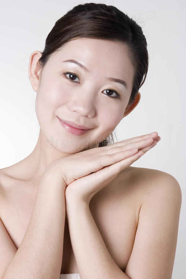 亚洲女孩微笑 图库摄影