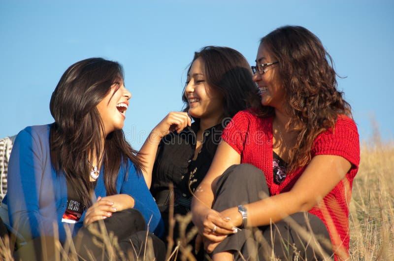 亚洲女孩组 免版税库存图片