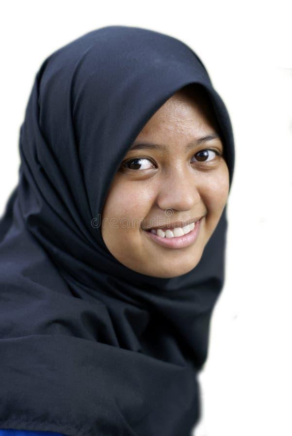 亚洲女性微笑青少年 免版税库存照片
