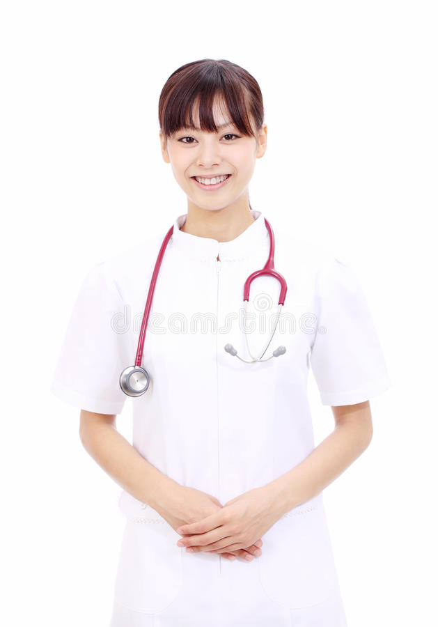 亚洲女性护士年轻人 库存照片