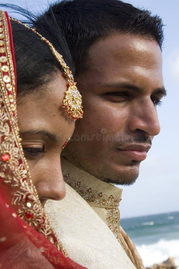 亚洲婚姻 免版税库存照片