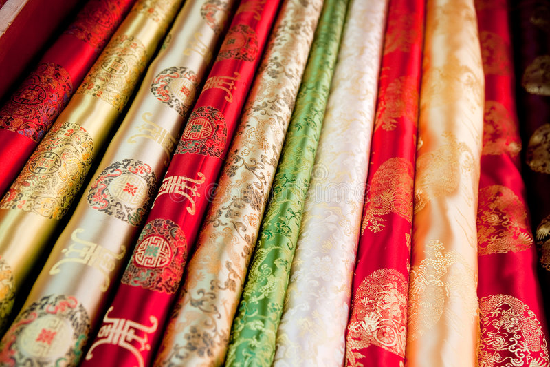 亚洲布料模式 库存照片