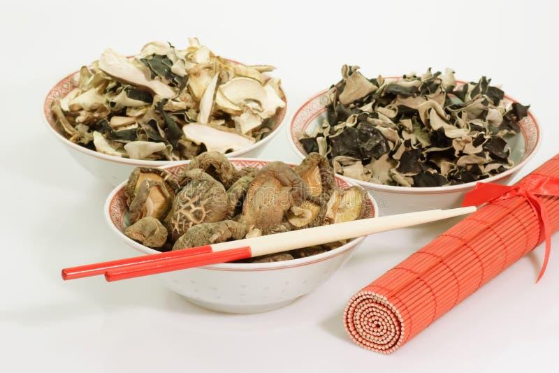 亚洲干蘑菇 库存照片