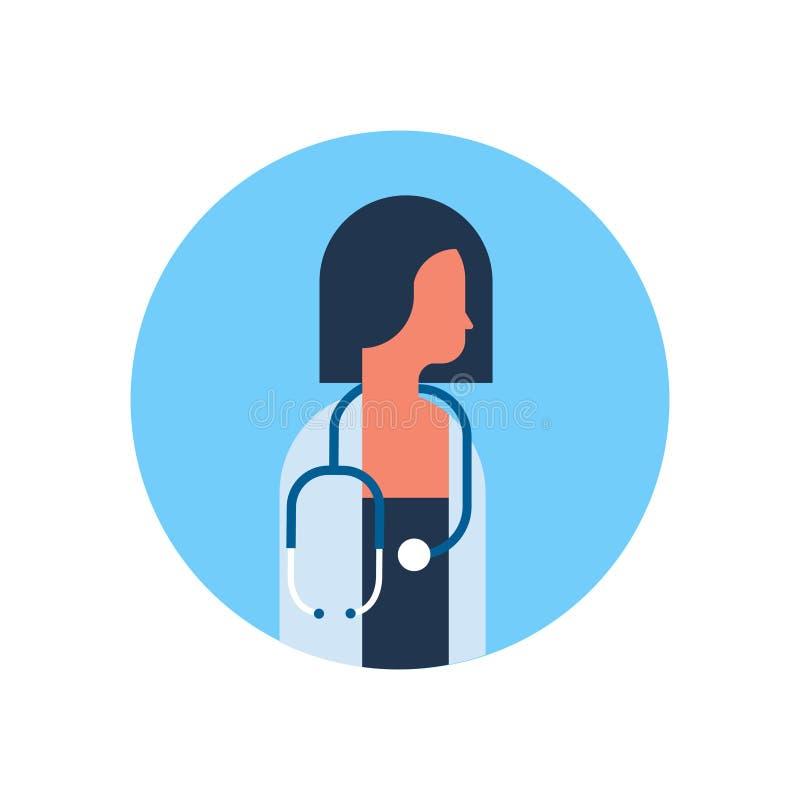 亚洲平妇女医生听诊器外形象女性具体化画象医疗保健的概念 皇族释放例证