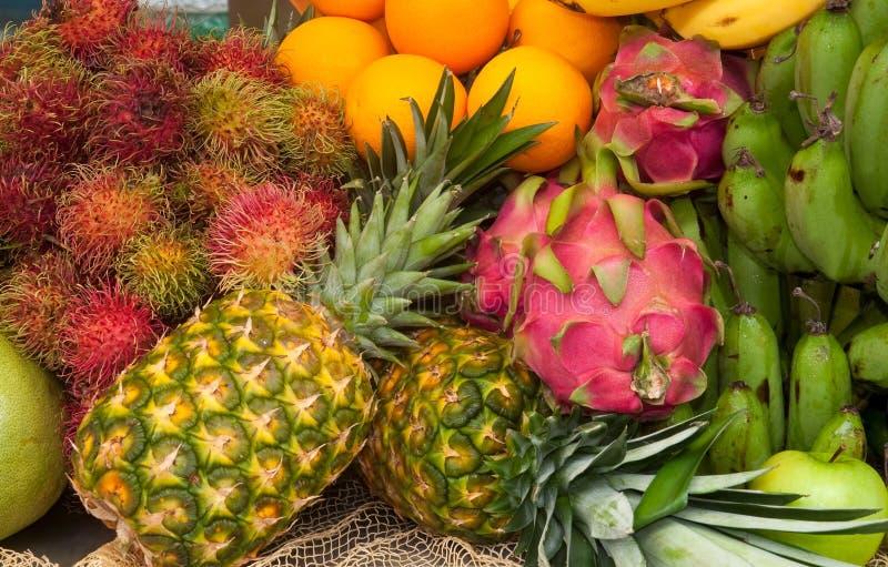 亚洲新鲜水果 免版税库存照片