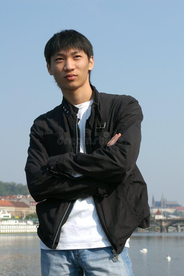 亚洲旅游年轻人 免版税库存图片