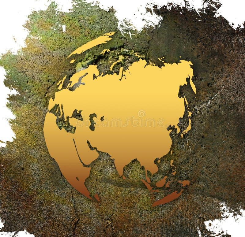 亚洲映射世界 皇族释放例证