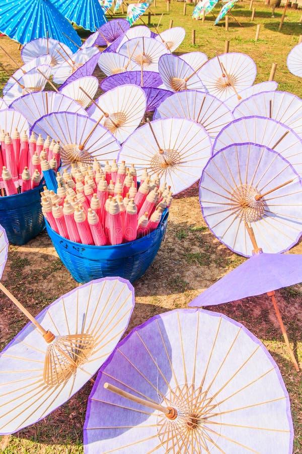 亚洲样式伞 免版税库存图片