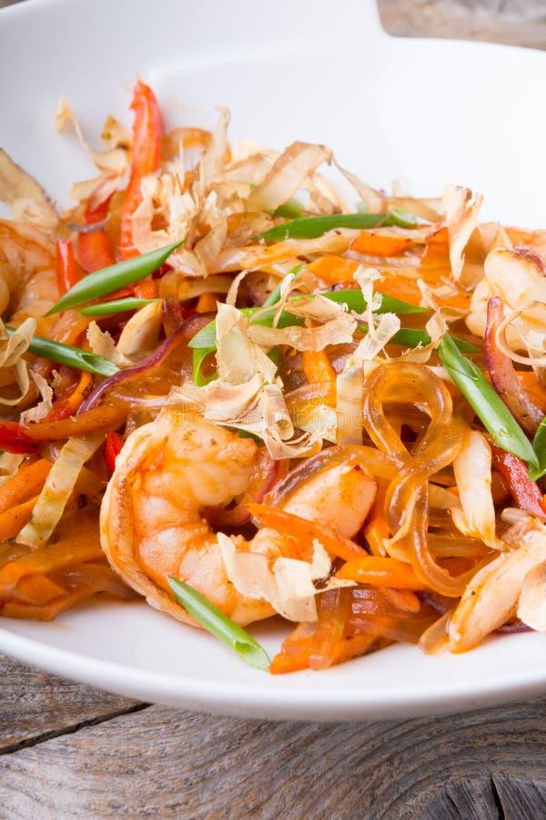 亚洲海鲜米线 库存照片