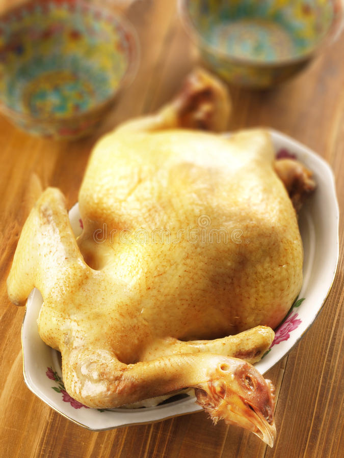 亚洲煮沸的鸡 免版税库存图片