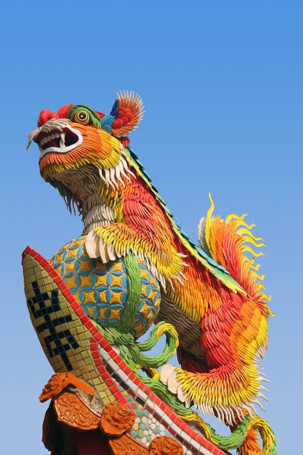 亚洲狮子寺庙 库存照片