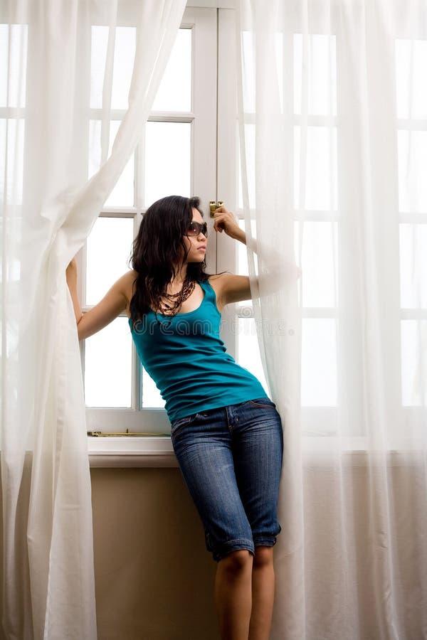亚洲现代妇女年轻人 库存照片