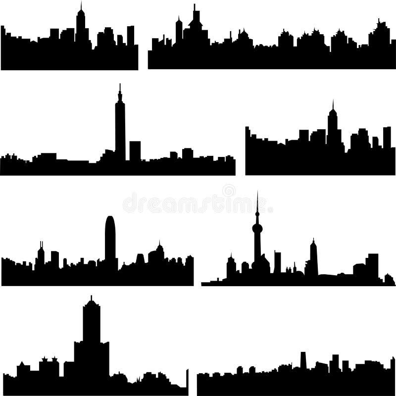 亚洲瓷城市系列 皇族释放例证