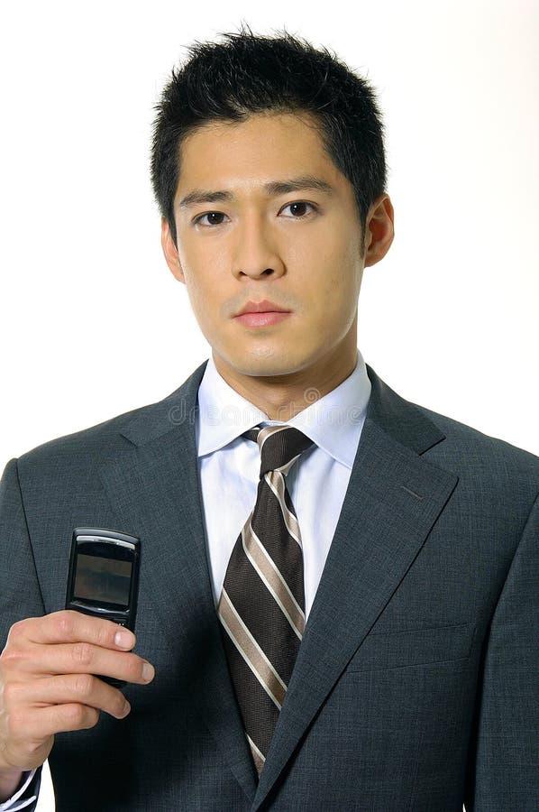 亚洲生意人年轻人 免版税库存图片