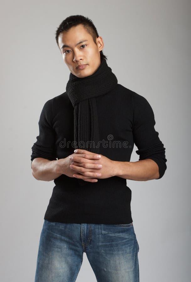亚洲男性模型年轻人 免版税库存照片