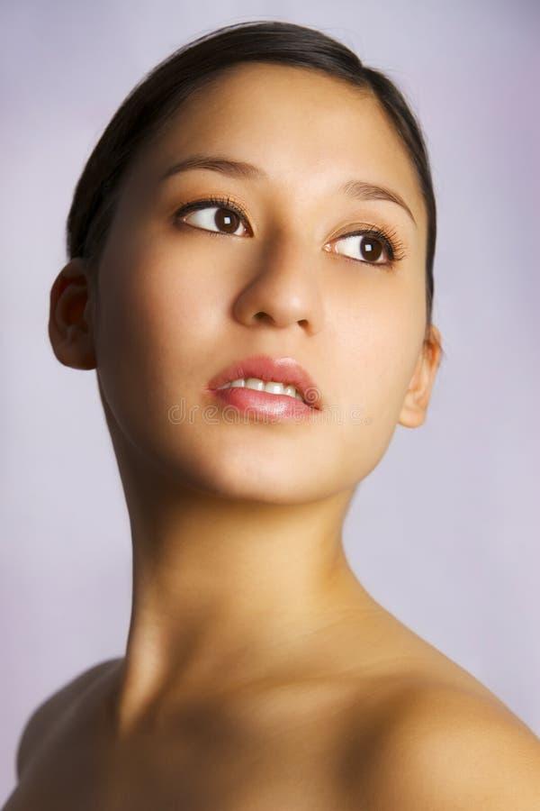 亚洲白种人混合妇女年轻人 免版税库存图片