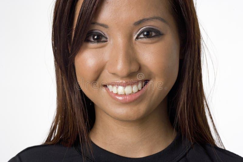 亚洲纵向妇女年轻人 免版税图库摄影