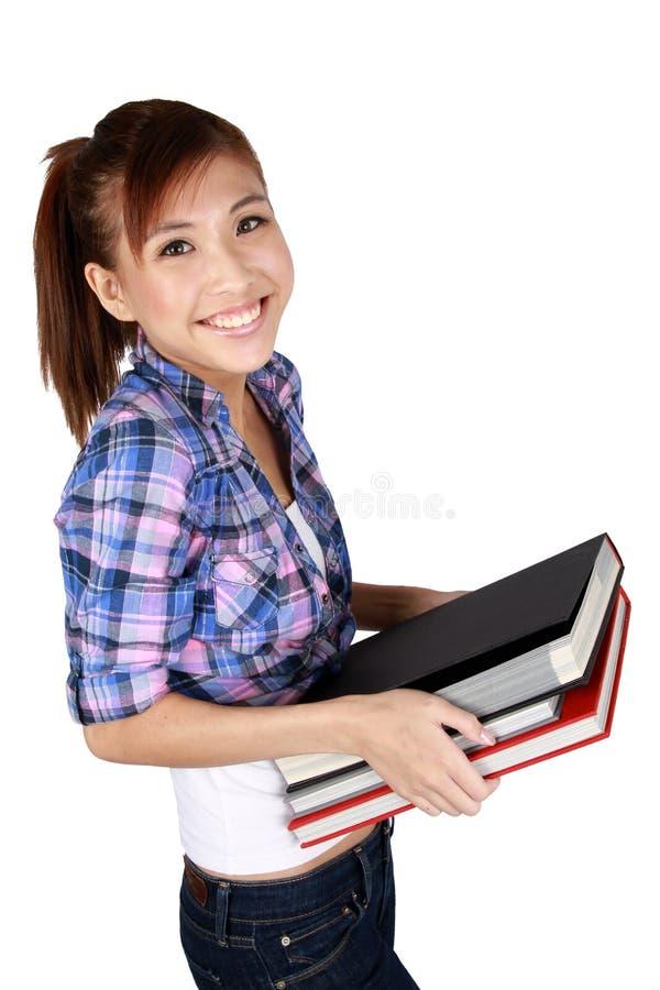 亚洲美丽的女学生年轻人 免版税库存照片