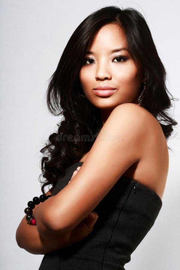 亚洲美丽的模型年轻人 库存图片