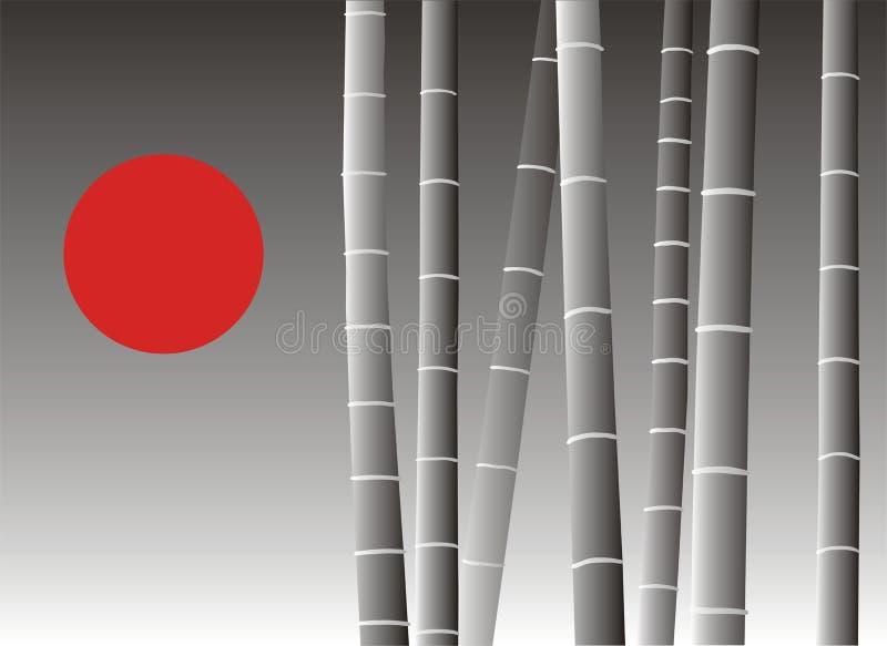 亚洲背景竹子 免版税图库摄影