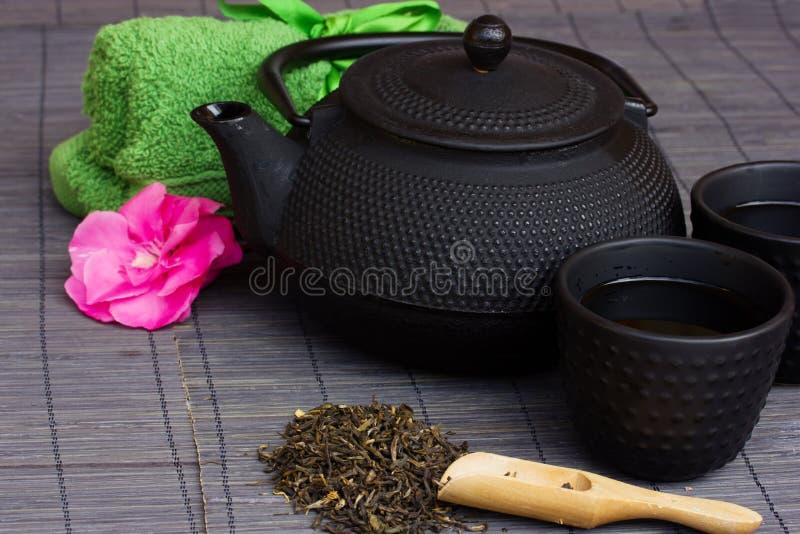亚洲茶具 免版税库存照片