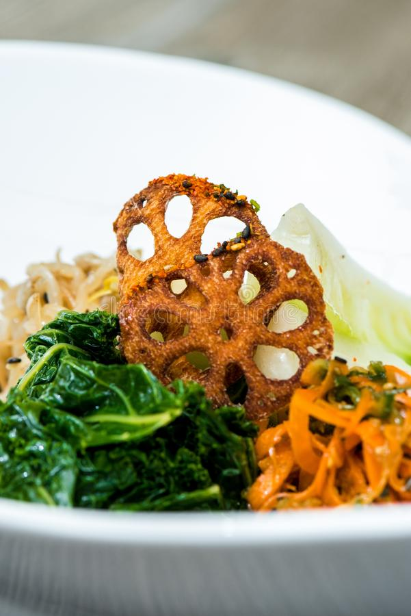 亚洲融合食物 免版税库存照片