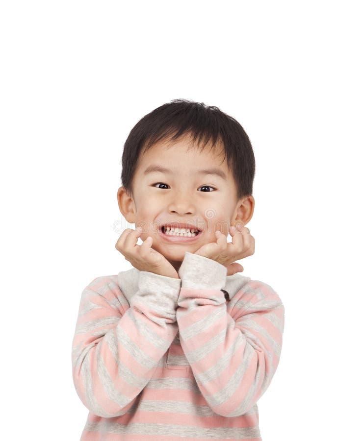 亚洲表示的孩子惊奇 免版税库存图片