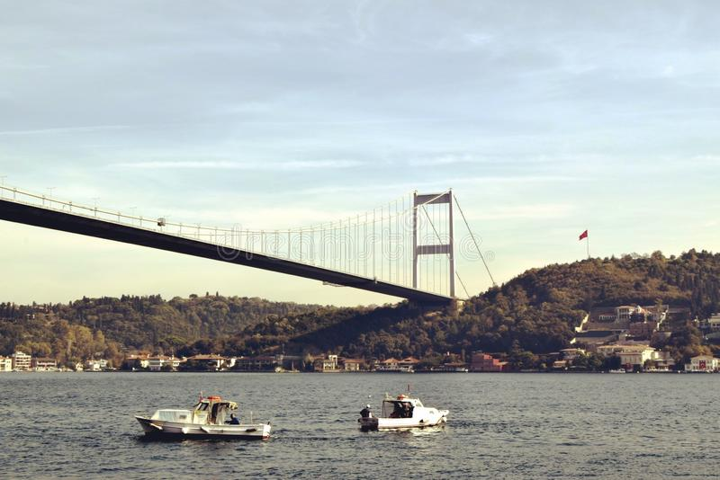 亚洲边的伊斯坦布尔视图 库存照片