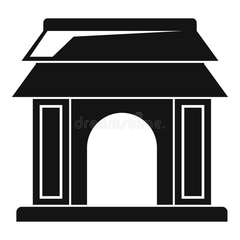 亚洲门象,简单的样式 库存例证