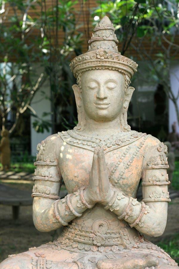 亚洲雕塑 免版税库存图片