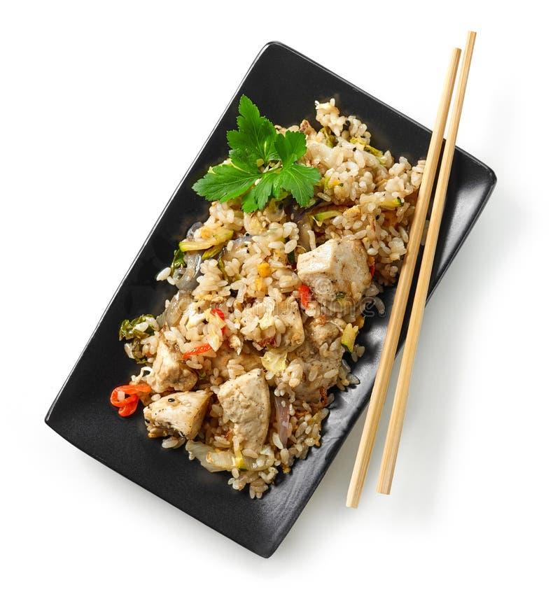 亚洲食物板材  免版税库存照片