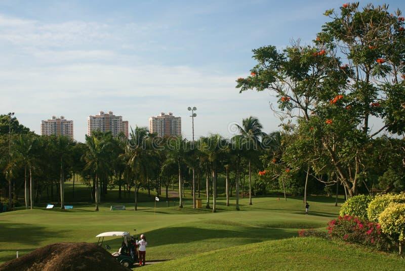 亚洲高尔夫球 库存图片