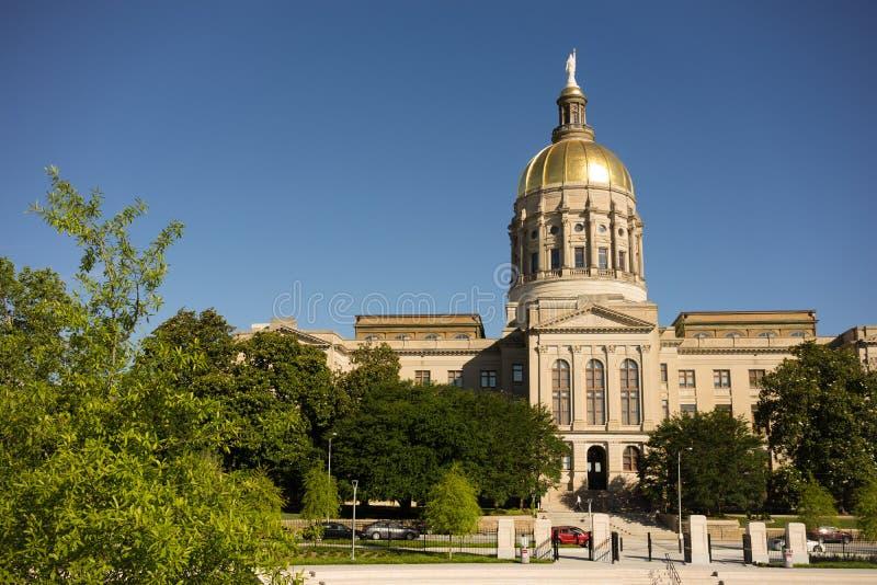 亚特兰大乔治亚国家资本金圆顶城市建筑学 免版税图库摄影