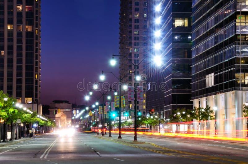 亚特兰大场面街道 库存图片