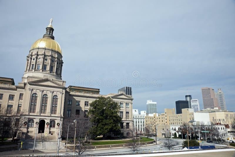 亚特兰大大厦国会大厦佐治亚状态 免版税库存图片