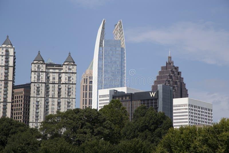 亚特兰大市地平线 库存照片