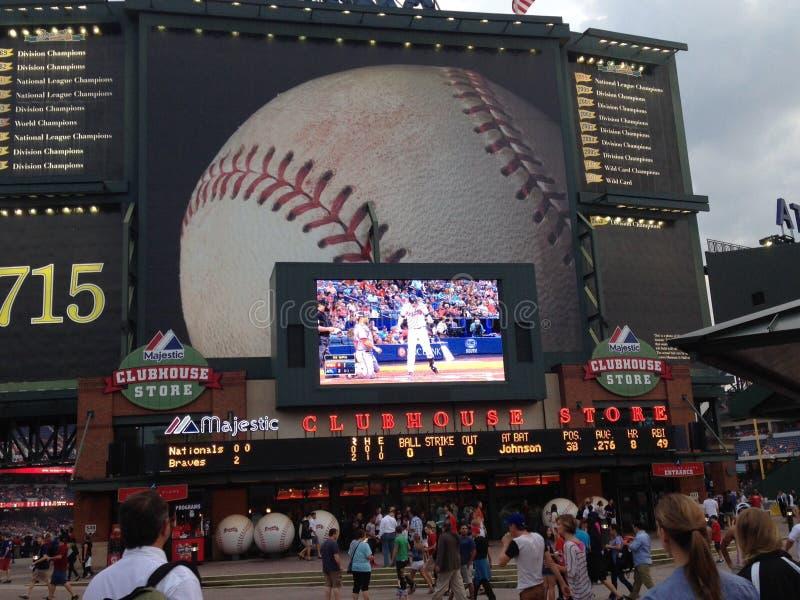 亚特兰大beisball体育场 免版税图库摄影
