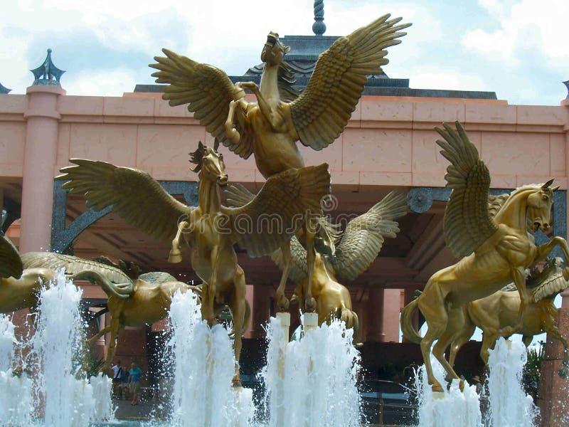 亚特兰提斯喷泉 免版税库存图片
