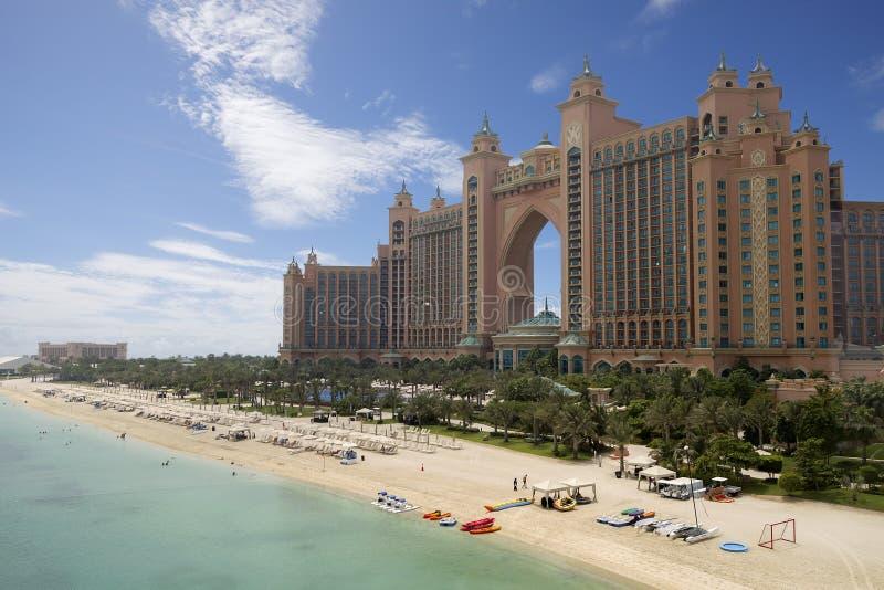 亚特兰提斯旅馆,迪拜,阿拉伯联合酋长国 库存照片