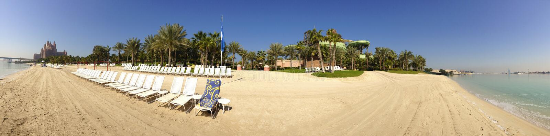 亚特兰提斯棕榈滩手段,迪拜,阿拉伯联合酋长国 免版税库存照片