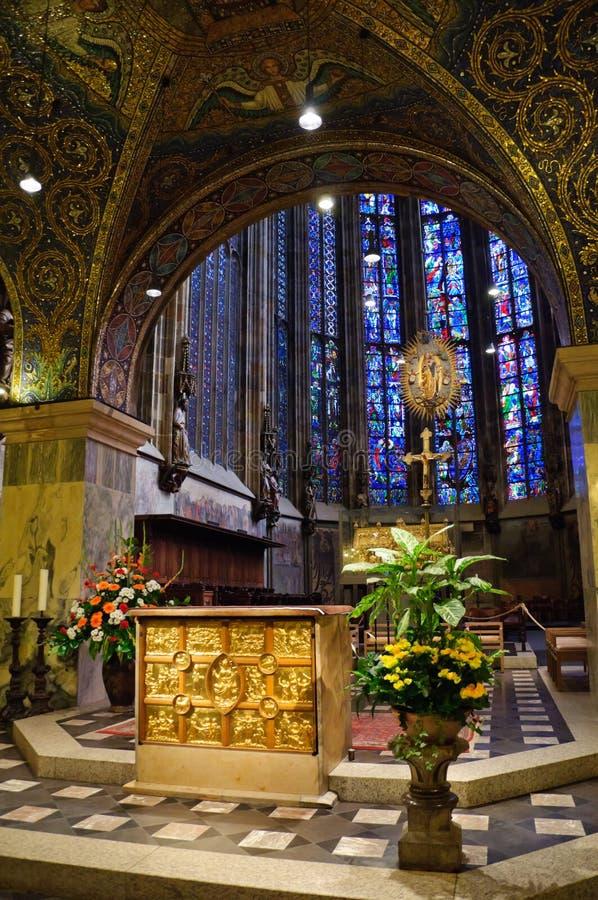亚琛大教堂德国 库存图片