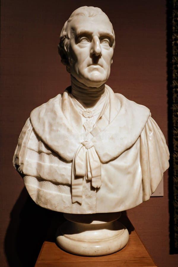 亚瑟威尔斯利,惠灵顿第1位公爵雕象  图库摄影