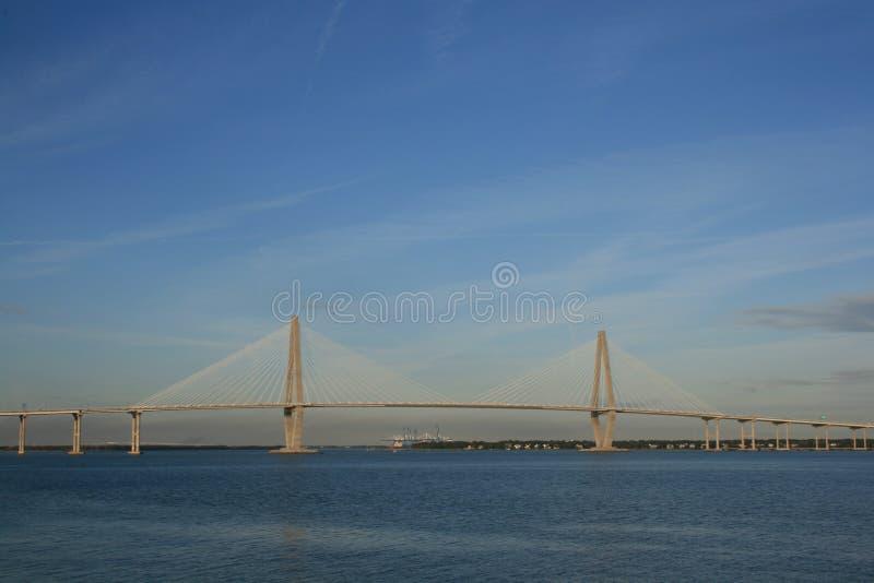 亚瑟桥梁小ravenel 免版税库存照片