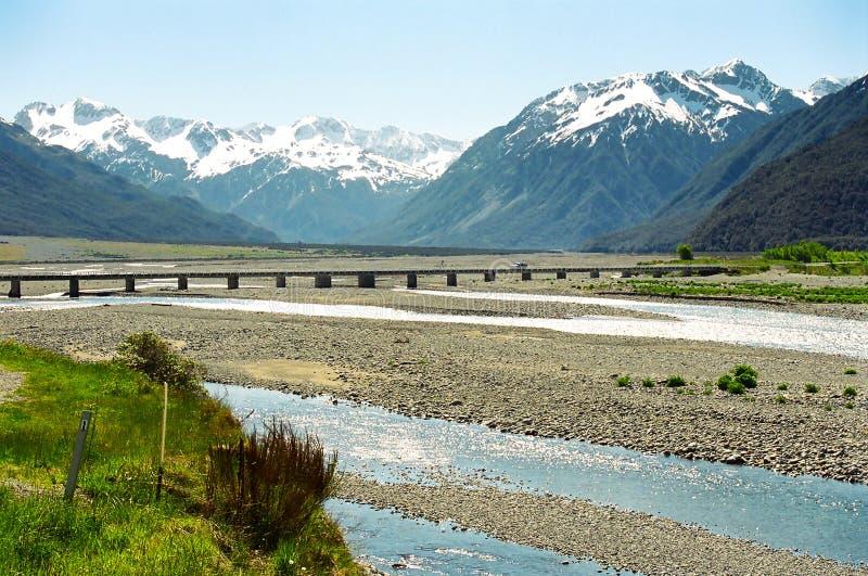 亚瑟桥梁新的通过s西兰 免版税库存照片