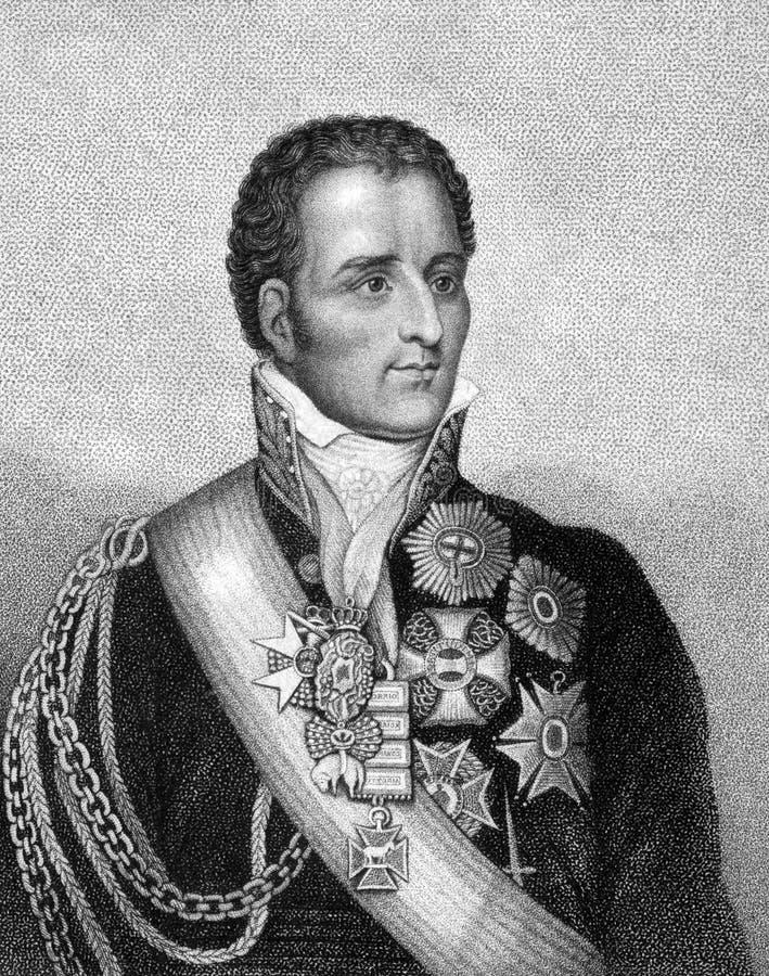 亚瑟Wellesley,惠灵顿第1位公爵 向量例证