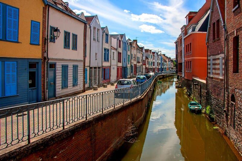 亚眠是一个城市在北法国 免版税库存图片