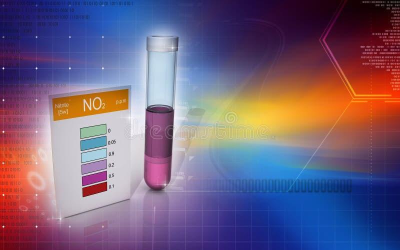 亚硝酸盐测试 皇族释放例证